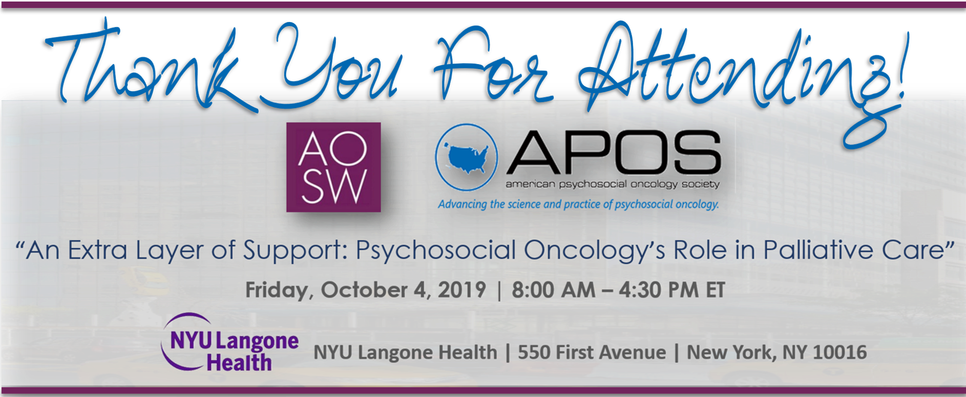 American Psychosocial Oncology Society